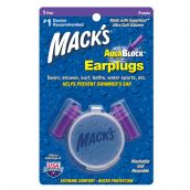 Mack's AquaBlock Swimmers Earplugs - Purple -  1 Pair Pack